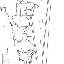 Desenho da ponte de Avinhão para colorir