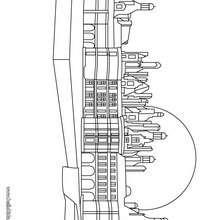 Desenho de um dos castelos do Loire para colorir