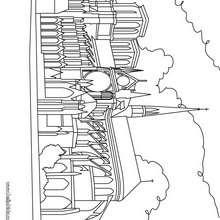 Desenho da Catedral de Notre Dame para colorir