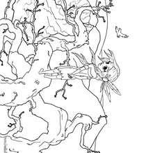 Desenho da indía para colorir