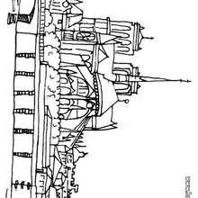 Desenho da igreja Notre-Dame para colorir