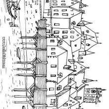 Desenho de Paris na idade média para colorir