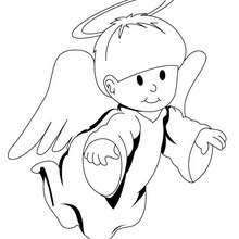 Desenho de um anjo fofo para colorir