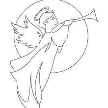 Desenho do arcanjo Gabriel para colorir