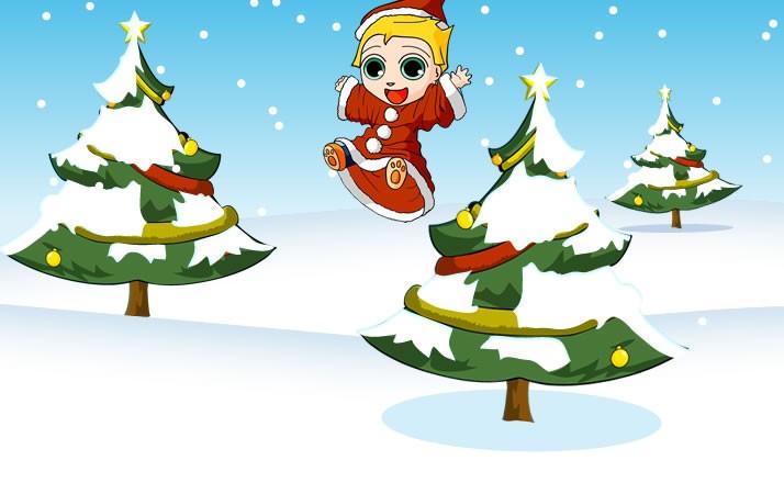 Imagem de um menino se divertindo no natal