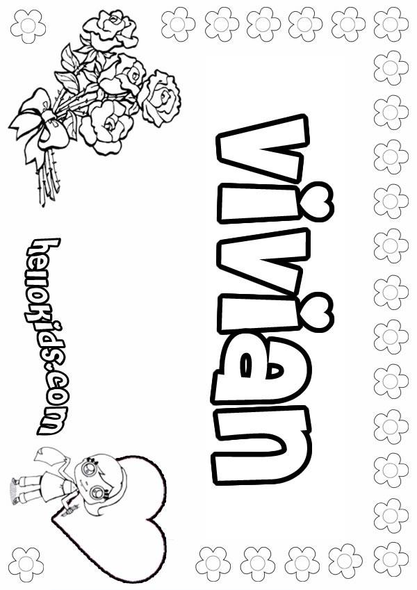 Desenhos Para Colorir De Vivian Pt Hellokids Com