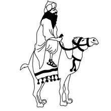 Desenho do Rei Baltasar para colorir