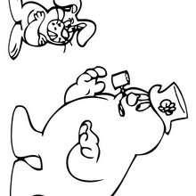 Desenho do Frosty com o Hocus Focus para colorir