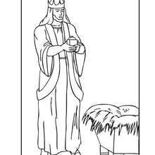 Desenho do Rei Melquior para colorir
