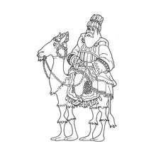 Desenho do Rei Mago Melquior para colorir