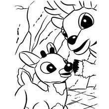 Desenho do Rodolfo com seu pai para colorir