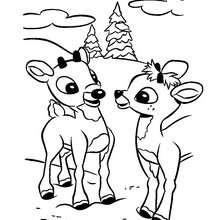 Desenho do Rodolfo com um amigo para colorir