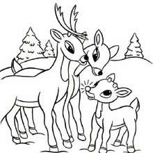 Desenho da família do Rodolfo para colorir