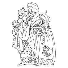 Desenho dos Reis Melquior, Baltasar e Gaspar para colorir