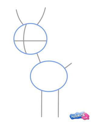 Como desenhar uma rena