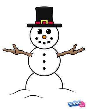 Como desenhar um boneco de neve
