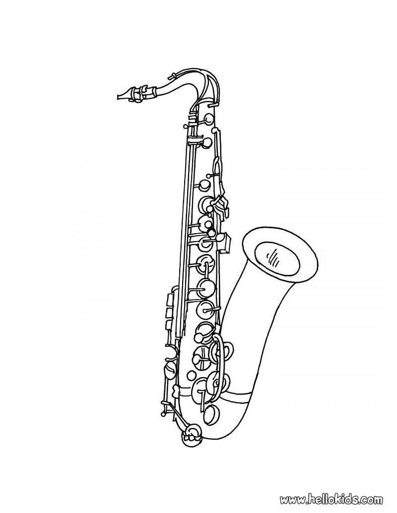Saxofone Para Imprimir