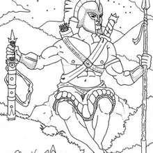 Desenho do Ares para colorir