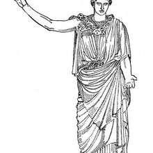Desenho da deusa do Olimpo ARTEMISA para colorir
