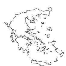 Desenho do mapa da Grécia para colorir online