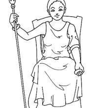 Desenho da Hera para colorir