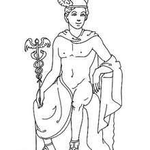Desenho do Hermes para colorir