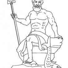 Desenho do Poseidon para colorir