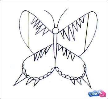 Como desenhar uma linda Borboleta