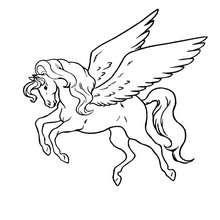 Desenho para colorir online do Pegasus