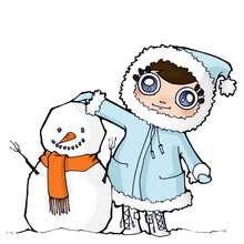Homem das neves, Jenny com um boneco de neve
