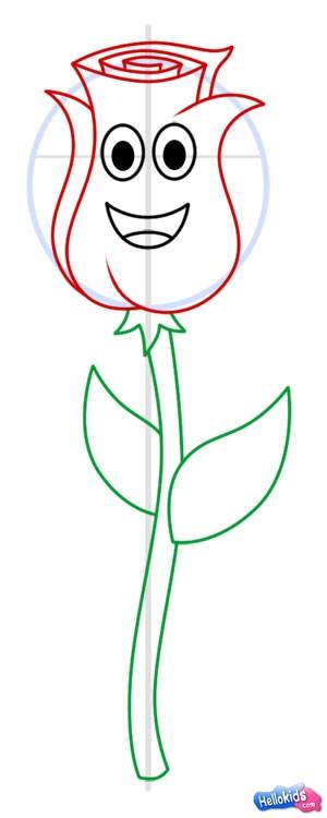 como desenhar como desenhar uma rosa. Black Bedroom Furniture Sets. Home Design Ideas