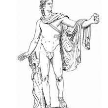 Desenho do Apolo para colorir