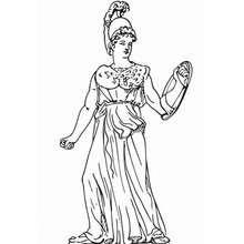 Desenho da Atena para colorir