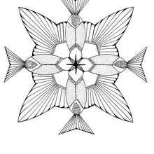 mandala beija-flor