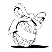Desenho de para colorir de um ovo de Páscoa decorado