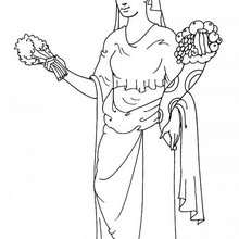 Desenho da Demeter para colorir
