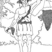 Desenho do Deus Dionysus para colorir