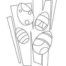 Desenho de para colorir de ovos de Páscoa