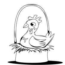 Desenho da galinha da Páscoa para colorir online