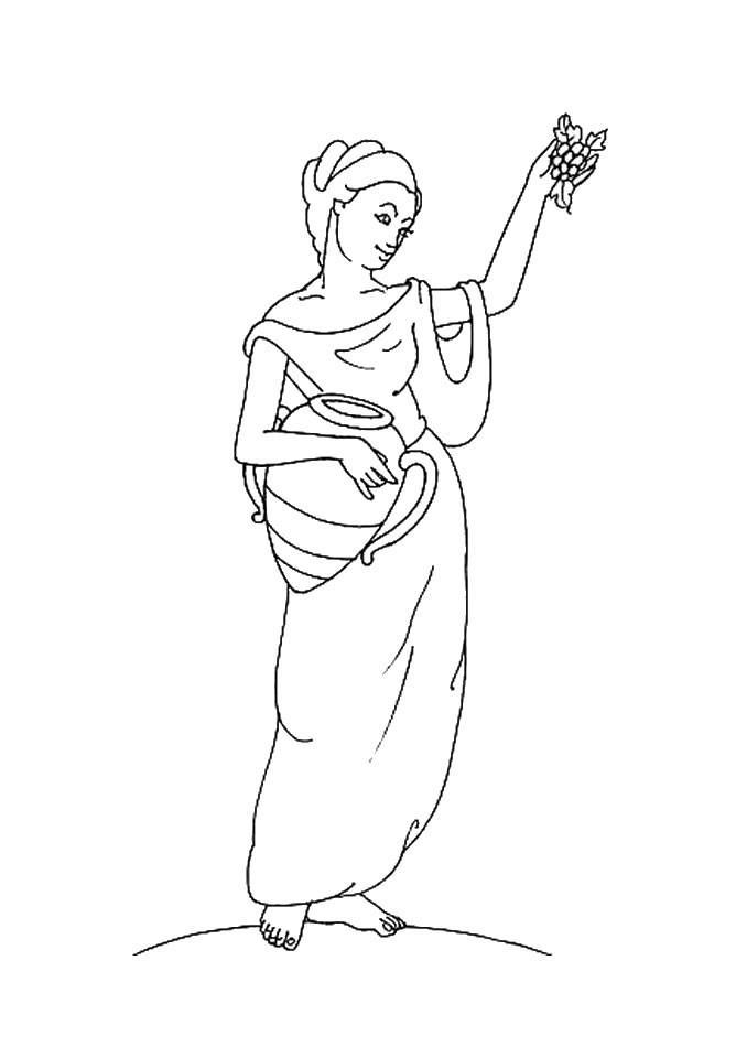 Desenho da HESTIA deusa do Olimpo para colorir