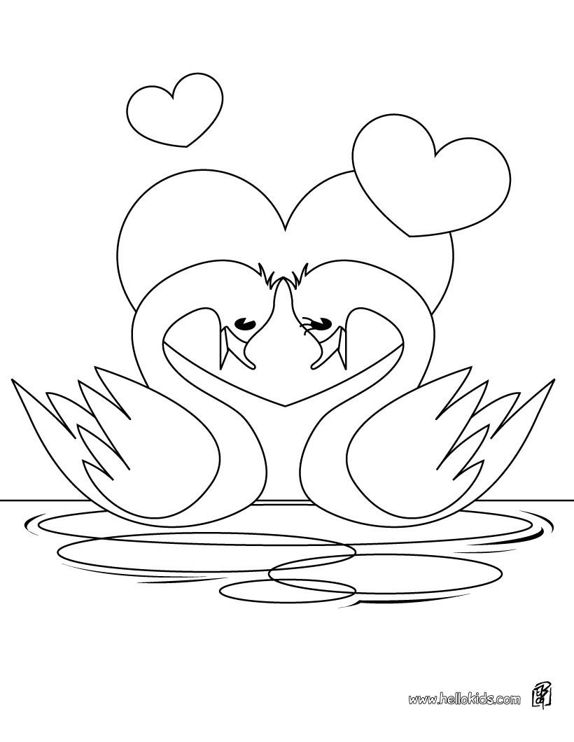 Desenhos Para Colorir De Desenho De Um Casal Apaixonado Para