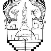 Mandala com uma esfinge egípcia