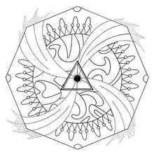 Mandala de roda que gera energia
