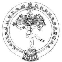 Mandala indiano com o Shiva