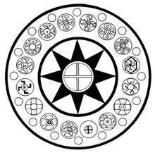 Mandala com estrelas de 8 pontas