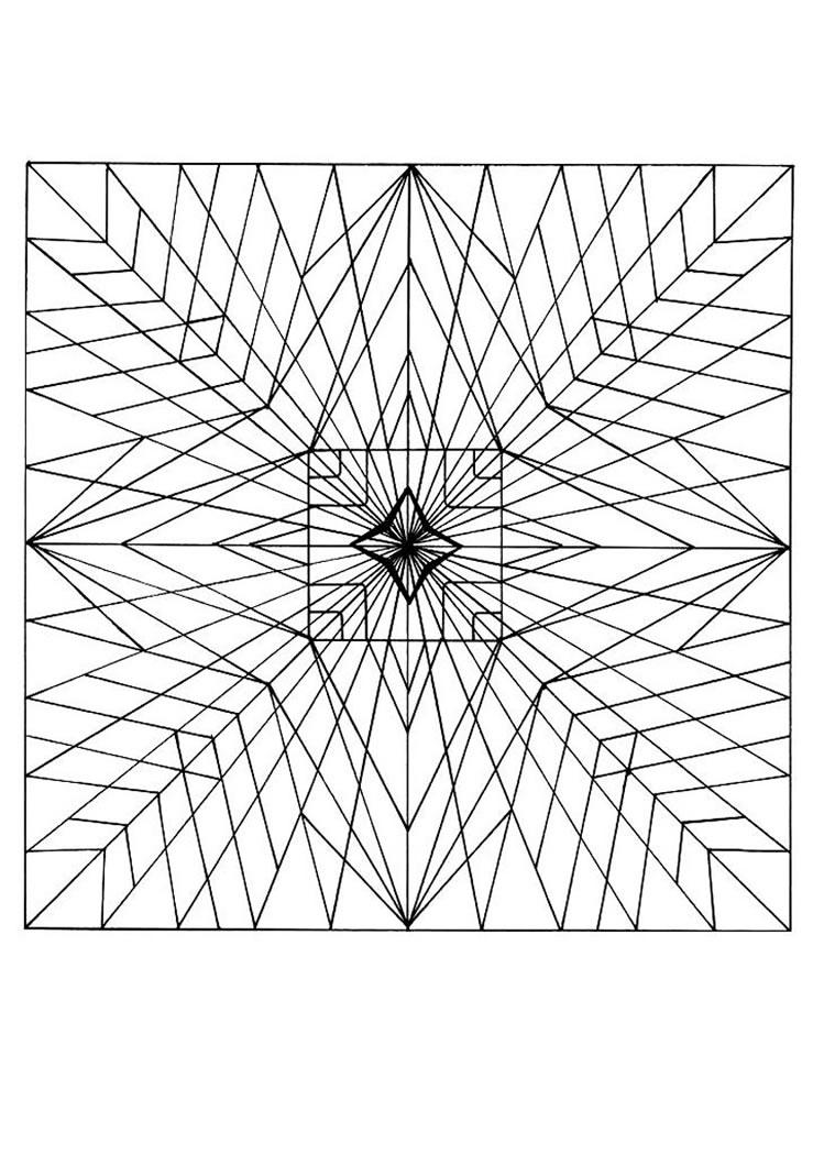 desenhos para colorir de mandala com estrelas pt