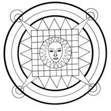 Mandala com Sol