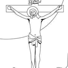 Desenho da crucifixão de Jesus para colorir