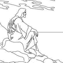 Desenho do Jesus Cristo para colorir