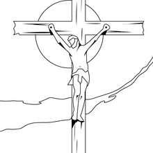Desenho do Jesus crucificado para colorir